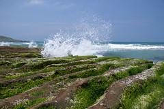 浪花綠石 (胚卓's photography) Tags: nd 海岸 風景 cpl 東北角 haida 老梅 浪花 海大 減光鏡 老梅綠石槽