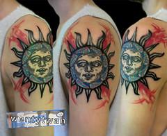 150615_lks_sn (wentytwan) Tags: sun berlin art tattoo pattern twan tattooartist suntattoo wenty punktattoo trashtattoo wentytwan medivalsun customtatttoo