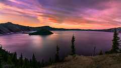 Discovery (Darkness of Light) Tags: july4th southrim craterlakenp oregon sunset nationalpark wizardisland point watchman discoverypoint independanceday