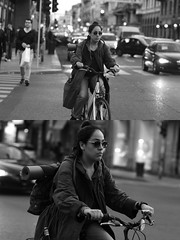 [La Mia Citt][Pedala] (Urca) Tags: milano italia 2016 bicicletta pedalare ciclista ritrattostradale portrait dittico bicycle bike biancoenero blackandwhite bn bw nikondigitale mir 889112