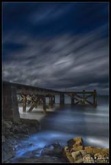 The storm clears (WibbleFishBanana) Tags: portencross arran firthofclyde scotland sea atlantic ocean pier storm waves rocks cloud leebigstopper leepolariser leendgrad westkilbride ayrshire weecumbrae ardrossan eileanarainn