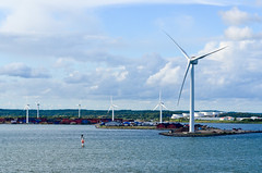 Entering the bay of Gteborg (jbdodane) Tags: alamy161016 cycletouring cyclotourisme europe freewheelycom goteborg sweden windmill jbcyclingnordkapp alamy