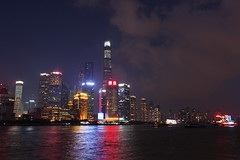 Pudong at night from The Bund in Shanghai, China (mbphillips) Tags: pudong  china  shanghai  thebund   huangpu river   sigma1835mmf18dchsm canon450d asia     mbphillips
