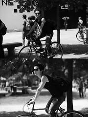 [La Mia Citt][Pedala] (Urca) Tags: milano italia 2016 bicicletta pedalare ciclista ritrattostradale portrait dittico nikondigitale mir biancoenero blackandwhite bn bw 8982