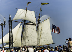 Tall ships 2016 Pride of Baltimore II (Artemortifica) Tags: boats chicago navypeir tallships band clouds fountains garden lakemichigan sailors sails skyline summer illinois