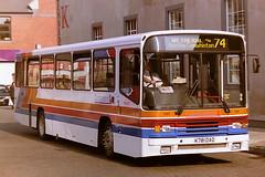 STAGECOACH CUMBERLAND 781 K781DAO (bobbyblack51) Tags: stagecoach cumberland 781 k781dao volvo b10m60 alexander ps carlisle bus station 1995