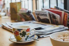 Coffee and magazines (neus_oliver) Tags: coffee magazines addiction morning brown sugar sunrise breakfast cup mug