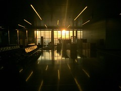 Hamad International Airport (osteras) Tags: window sunset sun qatar airport hamad doha