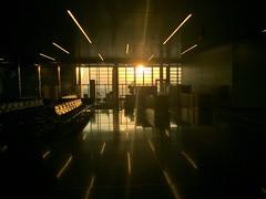 Hamad International Airport (osteras) Tags: window sunset sun qatar airport hamad doha