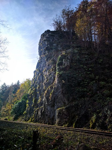 Cliff at Hönnetalbahn railway