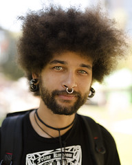 Sacramento Strangers #23 - Reid (NickSmyth) Tags: portrait portraiture people person street streetportrait streetportraiture strangers stranger eyes ears nose mouth lips beard mustache facialhair nosepiercing septum hair necklace earings backpack canon canon5dmarkiii canon5dmkiii 5d 5dmarkiii 5dmkiii 50mm sigma sigmalens sigma50mmf14dghsmart largeaperture fullframe f14 man male guy dslr dof digitalcamera digital depthoffield digitalphotography photography photograph photoshop photo picture