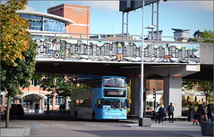Gosford Street & Coventry Ring Road (paulburr73) Tags: 4215 coventry nxc nationalexpress ringway ringroad october 2016 alexander dennis trident alx400 y823toh midlands nxwm city westmidlands bridge flyover gosfordstreet sunday afternoon