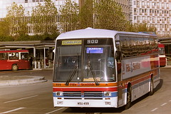 STAGECOACH FIFE SCOTTISH 499 MSU499 D319SGB (bobbyblack51) Tags: stagecoach fife scottish 499 msu499 d319sgb leyland tiger duple 340 centralscottish c19 buchanan bus station glasgow 1995