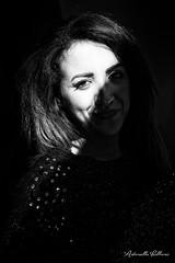 Luce e ombra (balboni.antonella) Tags: ritratto donna ragazza ombra biancoenero bn luce occhi mistero misteriosa
