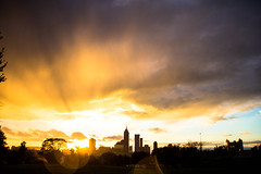 tonight (cara zimmerman) Tags: sunset highlandpark indianapolis sky cloudy clouds colors vibrant