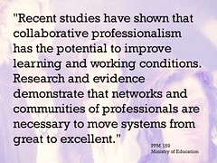 "Educational Postcard:  ""Recent studies have shown that collaborative professionalism has the potential to improve learning and working conditions...."" (Ken Whytock) Tags: recent studies collaborative professionalism potential improve learning working conditions research evidence demonstrate networks communities professionals systems great excellent"