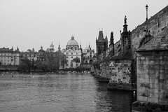 Prague (romanboed) Tags: karluv most charles bridge vltava reka river moldau old town stare mesto monochrome black white bw leica m 240 summilux 50 europe czech republic czechia bohemia prague cesko ceska republika praha hlavni city cityscape travel tourism architecture praag prag praga