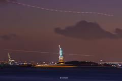 Statue of Liberty (luisbajanai) Tags: statueofliberty statue amazing sunset manhattan monumento estatua puestadesol anochecer newyork nyc nikonlens nightshot ny nigth nikond7200 night orange bluesky newyorkcity