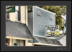 Ra'dars Village Inn (the Gallopping Geezer '4' million + views....) Tags: sign signage business wall hung ad advertise advertisement smalltown backroads clarksville mi michigan rural country open canon 5d3 sigma 24105 geezer 2016