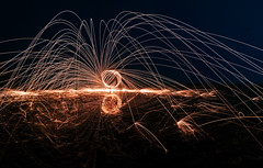 The Orange Orb (Orange Orb Photography) Tags: steelwool rock sparks headland reflection longreef orb water spinup colour