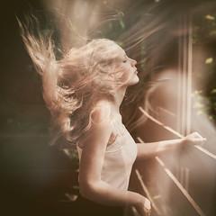 """Ephemerality"" (marcinlil) Tags: mlphotography ephemerality woman wind portrait"