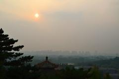 Sundown (hearn_josh) Tags: beijing china travel landscape cityscape smog sun building