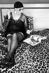 bed (queerina) Tags: queer dragqueen queen fag flamer frock fairy effeminacy flaming effeminate poof poofter mincing mincer smoking smokingcrossdresser camp heavymakeup limpwristed transvestism