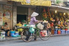 Hanoi, Vietnam (DitchTheMap) Tags: bike building flowers food market seasia vietnam ancient antique asia asian bamboo bicycle business city culture flickr flower fresh fruits hanoi hanoivietnam hat heritage life lifestyle morning old oldquarter personal poor quarter retro sell slow speed street things tradition traditional travel tropical vendor vendors vietnamese vintage walking woman yellow