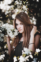 Apple girl (alextroshenkov) Tags: canon colors color composition world work flower flowers fashion art altai barnaul russia photo picture portrait paint spring siberia summer shadow sun 60d eyes apple face nature emotions tree day girl helios