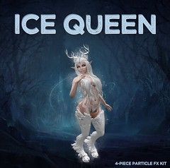 Ice Queen (ColeMarie Soleil (Cole's Corner)) Tags: winter solstice mystic realms secondlife sl special effects fantasy particles particle lights faun ice queen coles corner colemarie soleil