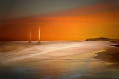 Vele (Zz manipulation) Tags: art ambrosioni zzmanipulation mare colori aracione sea boaqt barche vela tramonto terra