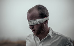Blind Leading the Blind (David Talley) Tags: davidtalley davidtalleyphotography portrait selfportrait blind conceptual conceptualphotography fineart fineartphotography rainy cloudy foggy moody