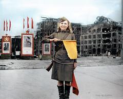 Pvt Luba Rosenowa Berlin July 45 Russian Zone (klimbims) Tags: 1945 berlin ww2 wwii