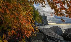 Autumn colors (Paul Domsten) Tags: fall autumn pentax northshore minnesota splitrock splitrocklighthouse lakesuperior lake greatlakes red yellow orange lighthouse
