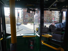 On the bus in Central London (Saturday 8th March 2014) (paulburr73) Tags: london bus aboard passenger alighting gettingoff travel transport doubledecker capital centrallondon uk unitedkingdom towerhill toweroflondon journey lowerdeck lowfloor windscreen throughthewindow view march 2014 busdriver oystercard hungdrawnquartered bywardstreet a100 greattowerstreet lowerthamesstreet streetscene pub publichouse route15 stagecoach