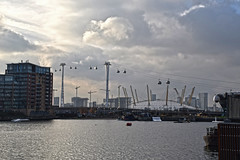 View of the O2 (Jainbow) Tags: o2 cable cars emirates air lines river thames jainbow