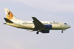 YL-BBA Boeing B735 LHR 19Mar2005 (Citation Ten) Tags: ylbba b735 bti lhr