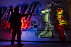 Lightgraff at CSOA La Madreña (Athalfred DKL) Tags: light lightpainting luz silhouette night painting children graffiti la long exposure nocturnal flash asturias led torch lp nocturna flashlight silueta oviedo 13 cod con multicolor palabras p2 pintar darklight larga exposición asturies linterna madreña csoa kans lenser lightgraff dkl