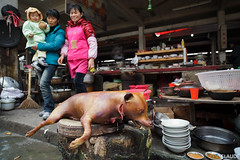 Dog Meat Restaurant's Kitchen, Fuli Market, Yangshuo, Guangxi, China (Claude1688) Tags: china dog restaurant yangshuo meat  guangxi  fuli