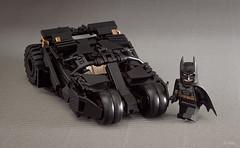 Batman Lego Tumbler v.2 (_Tiler) Tags: lego batman minifig dccomics batmobile batmanbegins moc tumbler thedarkknight minifigscale