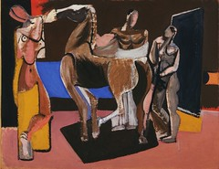 Gorky, Arshile (1904-1948) - 1928 Composition: Horse and Figures (Museum of Modern Art, New York City) (RasMarley) Tags: 1920s horse animal group moma museumofmodernart american painter expressionism 20thcentury 1928 gorky armenian arshilegorky compositionhorseandfigures