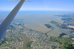 Lost Peninsula (SkySNAPS Photography) Tags: ohio summer june river flying nikon lakeerie michigan aviation aerial greatlakes toledo 162 cessna 2012 maumee islandtour lsa generalaviation d3000 skycatcher lightsportaviation aperture3 n444um baymaumee lostpeninsula