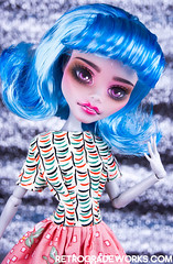 Custom Monster High Ghoulia - Clarabell (Retrograde Works) Tags: monster skull high doll ooak custom shores repaint ghoulia