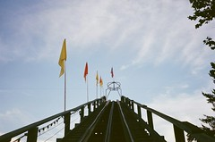 04560019 (indoorliving) Tags: summer sky color film 35mm 35mmfilm amusementpark rollercoaster knoebels colorfilm