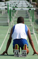 FACING LIFE'S HURDLES (MIKECNY) Tags: track highschool lasalle runner hurdles obstacles