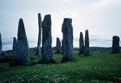 Callanish Stone Circle, Isle of Lewis (1996) (Duncan+Gladys) Tags: uk scotland callanish rossandcromarty