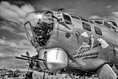 IMG_0017_18_19_20_21-Edit.jpg (waite767) Tags: bw airplane colorado aviation wwii airplanes places historic b17 transportation bomber hdr warbird aluminumovercast 2011 centennialairport dateyear