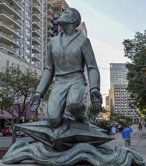 Religion 081 (Nathan_Arrington) Tags: statue art sculpture man star water bronze metal park city street urban memorial monument landmark publicart outdoor bostoncommon religion boston ma massachusetts