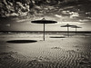 Beach (big andrei) Tags: sea bw beach sepia sand cyprus olympus zuiko e5 larnaca 1260mm