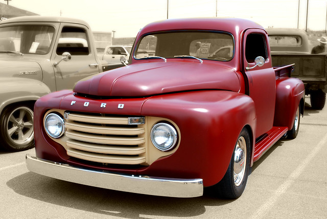 ford truck pickup f1 custom 1950